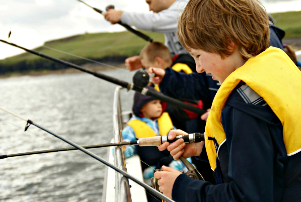 kids fishing mullaghmore